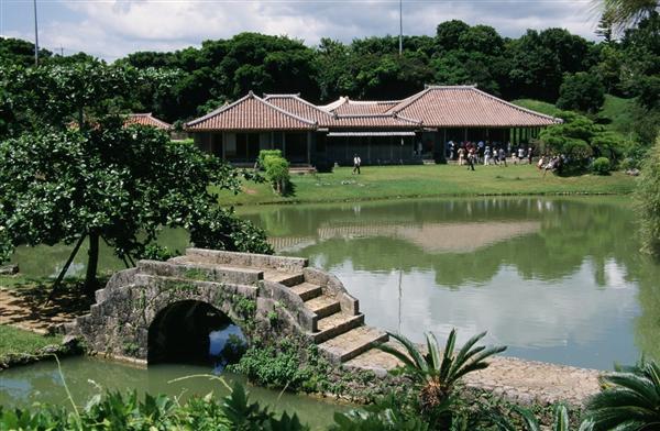 世界遺産、識名園の廻遊式庭園
