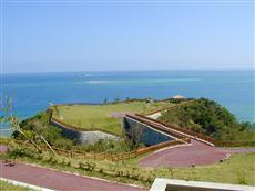 コマカ島、久高島が一望できる知念岬公園からの眺望