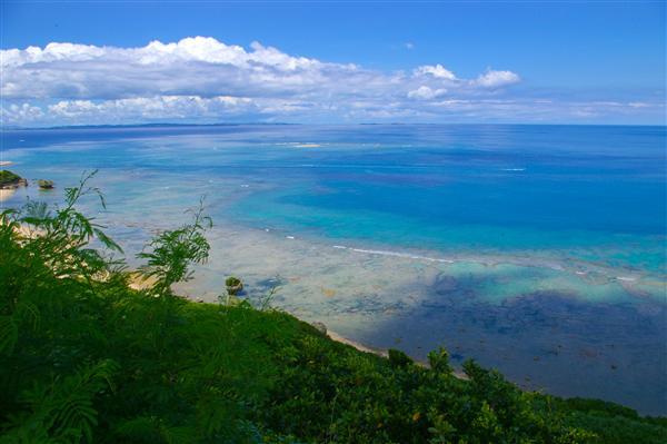 知念岬公園から望む雄大な太平洋のパノラマビュー
